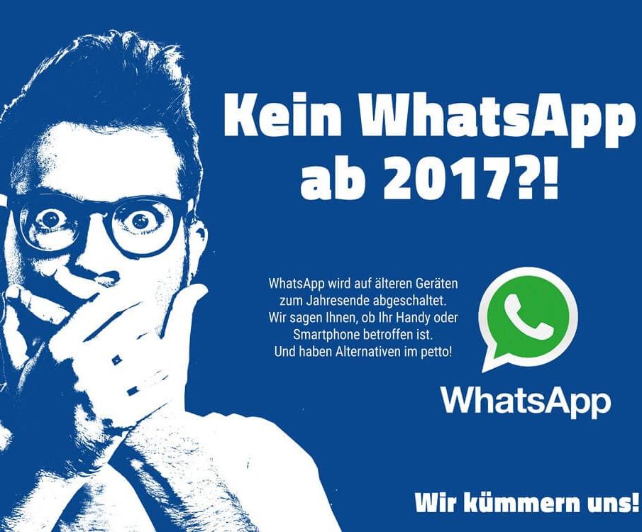 Whatsapp Ende 2016 für iPhone 3GS und 2017 für Blackberry. aetka bietet mit neuen Smartphones passende Alternativen.